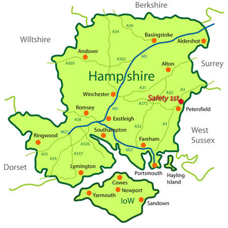 Safety 1st map of hampshire towns